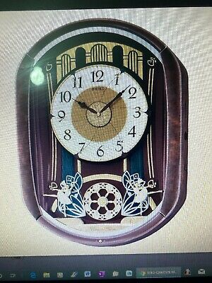 Seiko 6 Part. Moving  Melody  Wall Clock With Led Lights