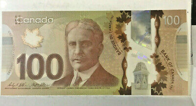 Canada  2011  $100 Dollars ,With The Braille Feature Scrace And In Uncirculated