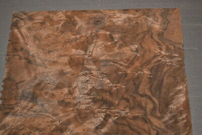 Walnut Burl Raw Wood Veneer Sheets 7.5 x 8.5 inches 1/42nd thick         7631-23