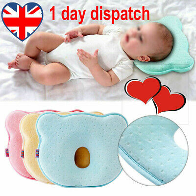 ✔Newborn Baby Cot Pillow Prevent Flat Head Memory Foam Cushion Sleeping Support✔