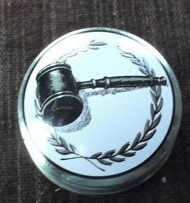 gavel insert domed metal insert lot of 10 trophy parts