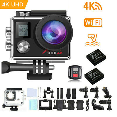 "Campark Action Camera 4K Ultra HD Waterproof Sports Cam WiFi DV Camcorder 2"" LCD"