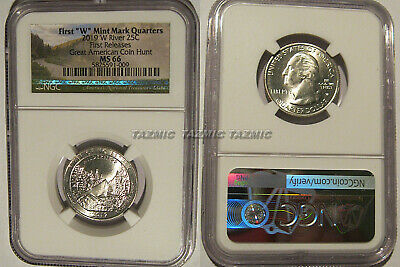 2019-W NGC MS66 RIVER NO RETURN W MINT QUARTER EARLY RELEASES WPP 66