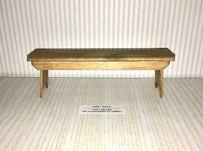 Miniature Dollhouse 1:12 Scale Pine Wood Bench By Sir Thomas Thumb - 907.1