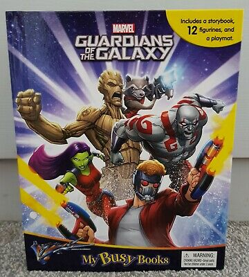 12 Character Figures /& Playmat New Marvel Guardians of the Galaxy My Busy Book