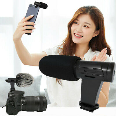 Interview Phone MIC-06 Recording Video mike Receiver Microphone Camera Mic