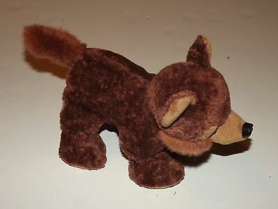 "JERRY ELSNER Coyote Brown Plush Stuffed Animal 12"" x 8"""
