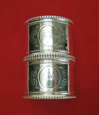 Antique Ornate Silverplate Standing Napkin Ring Toothpick Holder
