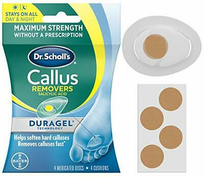 Dr. Scholl's CALLUS REMOVER with Duragel Technology, 4ct Removes Calluses F