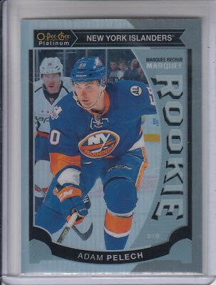 15/16 OPC Platinum New York Islanders Adam Pelech Rainbow Rookie RC card #M47