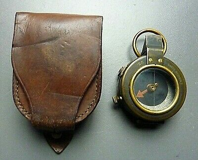 WW I 1918 U.S. ENGINEERS Corp Military Compass With Case C&E Cruchon & Emons
