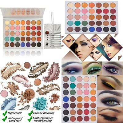 Beauty Glazed Eyeshadow Palette and Makeup Brushes, Matte Shimmer Eye Shadow Pal
