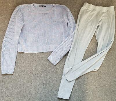 Girls 2 Piece Outfit, Leggings & Cropped Jumper, 11-12/12-13 Yrs