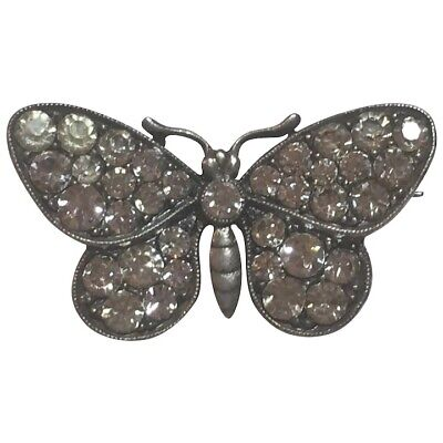 Antique German Knoll and Pregizer 935 Sterling Silver Paste Butterfly Brooch