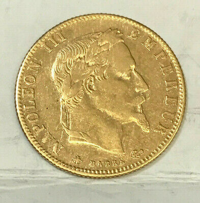 "FRANCE 1867 A 5 "" GOLD "" Francs  NAPOLEON III .VERY SCARCE, EXCELLENT HIGH GRADE"