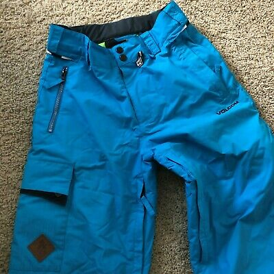 Volcom Foxtail turquoise teal women's ski winter pants size Youth Large