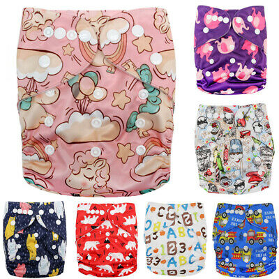 NEW 1PC Baby Cloth Diaper Reusable Washable Adjustable Pocket Nappy Cover 0-2yrs