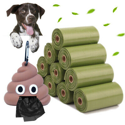 Biodegradable Pet Poo Bag Dog Cat Puppy Waste Poop Cleaning Picking Bags Holder