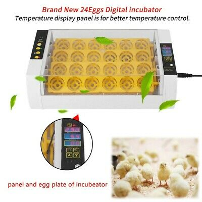 7/24/32 Egg Hatcher Automatic Digital Chicken Incubator Industrial Farm Home UK