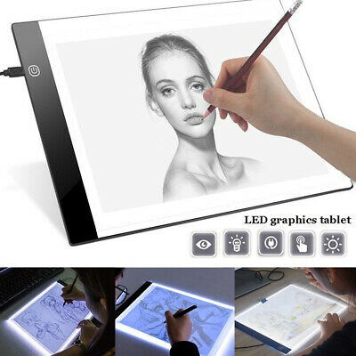 A4/A5 LED Graphic Tablet Drawing Panel Art Stencil Drawing Board Tracing Pad New
