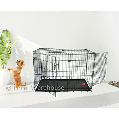 Pet Cages Metal Dog Cat Puppy Training Folding Crate Animal Transport XXL SIZE