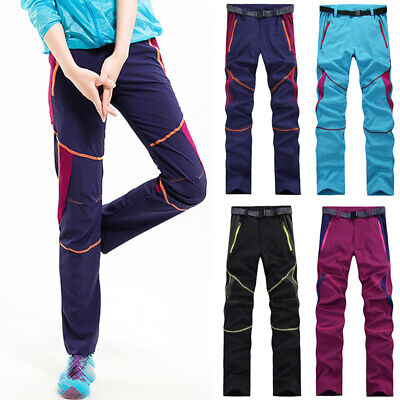 Women Outdoor Hiking Pants Windproof Waterproof Quick Dry Thin Casual Trousers