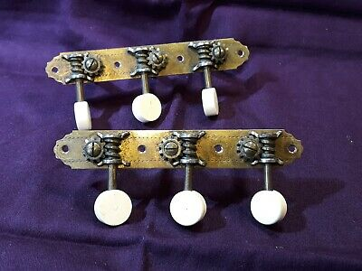 NICKEL VINTAGE MACHINE HEADS Small OVAL TUNER BUTTONS to fit 8mm or 10mm holes