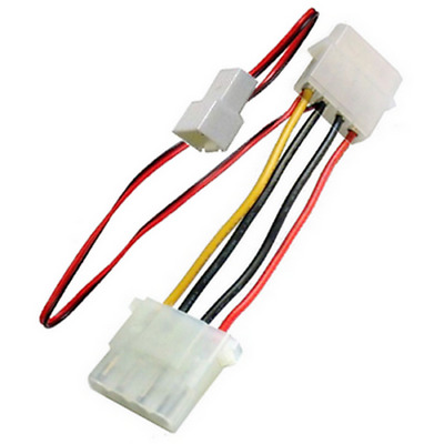 x2 Motherboard 4pin//3pin Fan Socket to VGA 4pin Adapter Cable Wire  Wire 318-002