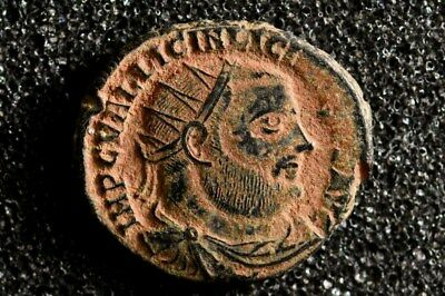 Emperor Licinius I 308-324 AD. Æ  Ancient Roman Imperial bronze coin. Jupiter.