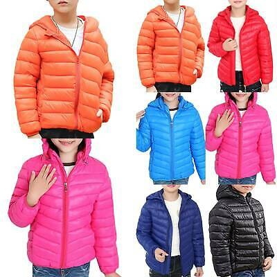 Kid Girl Winter Warm Quilted Jacket Hooded Down Coat Puffer Parka Casual Outwear