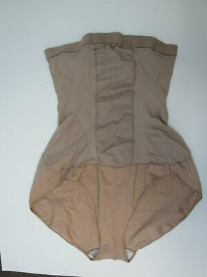 (NWOT SPANX by SARA BLAKELY NUDE HIGH POWER BRIEF BODY SHAPER sz F)