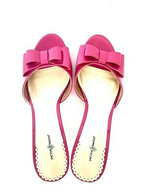 """Jaclyn Smith Pink Bow Barbie Style Heeled Sandals Size 8 """"New"""""""