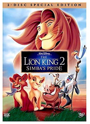 The Lion King 2: Simba's Pride (DVD, 2-Disc 1999) New w/ Slipcover FREE Shipping