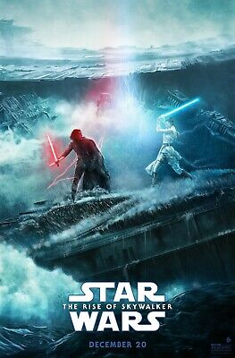 "Star Wars The Rise Of Skywalker poster - Kylo Renn & Rey battle - 11"" x 17"""