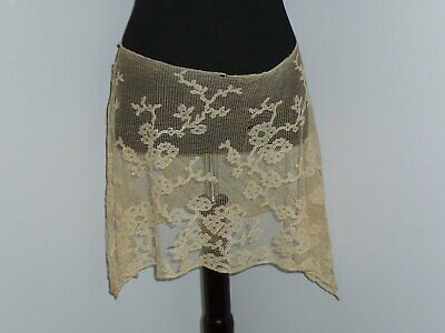 Exceptional ANTIQUE Victorian Edwardian Frech Chantilly LACE Skirt-1800s-1900s