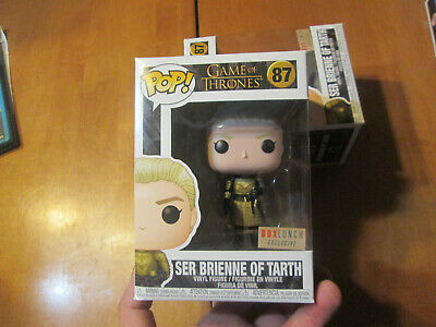 Funko Pop GAME OF THRONES SER BRIENNE OF TARTH # 87 BOX LUNCH READ