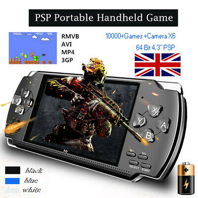"""4.3"""" 8GB Portable Handheld Video Game Console 32 Bit Built In 1000+ Games Player"""
