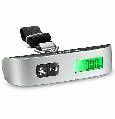 50kg Digital Luggage Scale Portable Weighing Weight Suitcase Travel Bag Strap US