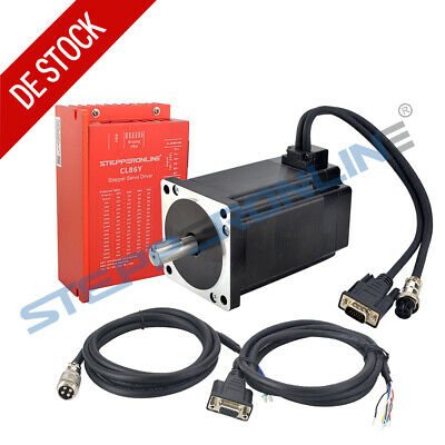 1 Axis Closed loop Stepper Motor CNC Kit 9Nm 6A Nema 34 Schrittmotor Driver