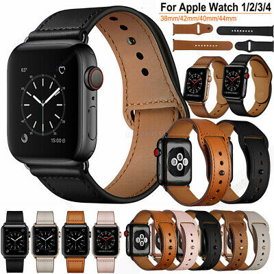For Apple Watch 40/44mm 38/42 iWatch Series 5 4 3 2 1 Genuine Leather Band Strap