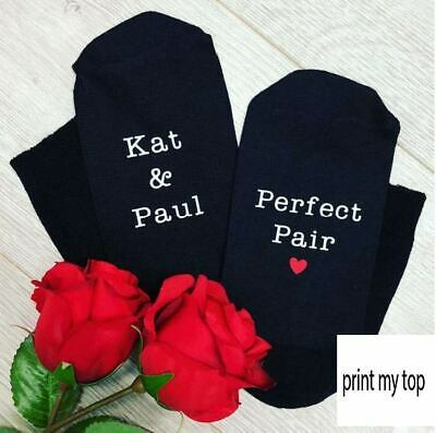 Mens Womens Personalised Cute Love Valentines Day Cotton Anniversary Gift Socks
