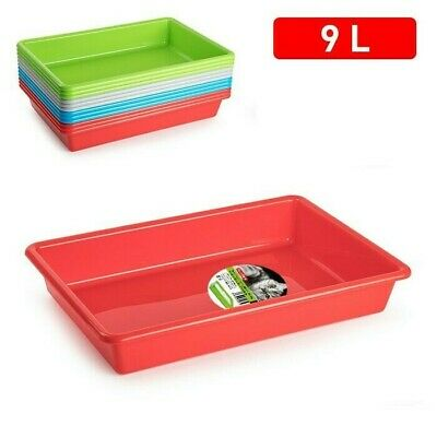 9L High Quality Plastic Pet Cat Kitten Dish Litter Tray Box Poo