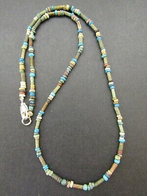 NILE  Ancient Egyptian  Amulet Mummy Bead Neckace ca 600 BC