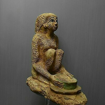Rare ancient egyptian antique woman offering eucharist 1550-1069 bc