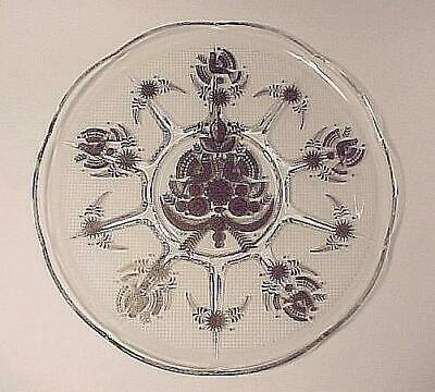 Georges Briard Sonata Round Tray Plate Platter 11 inch 50s 60s Glass Signed