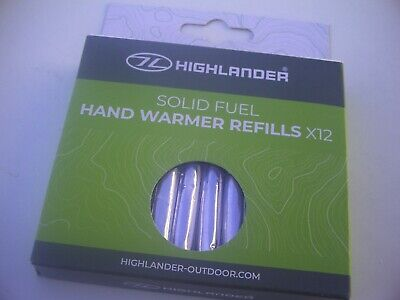 12 x  Solid Fuel Hand Warmer Fuel Sticks. For warm hands on Cold days!