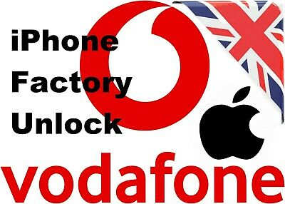 Factory Unlock Service For iPhone 7 / 7+ / 7S / 7S plus / 8 / 8Plus Vodafone UK