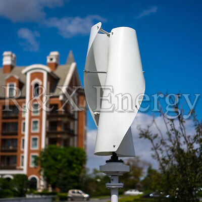 400w 12v/24v Vertical Axis Wind Turbine Energy Wind Generator Spiral Noiseless