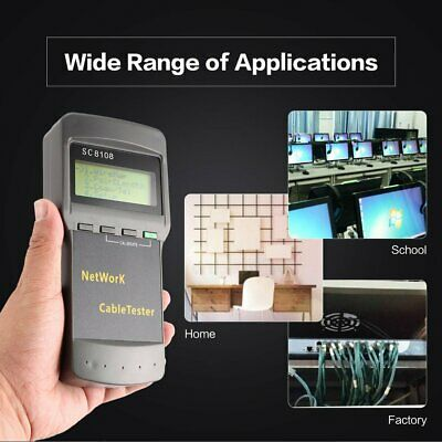 SC8108 Network Cable Tester Meter CAT5 LAN RJ45 Digital PC Data Network B2X3L PX