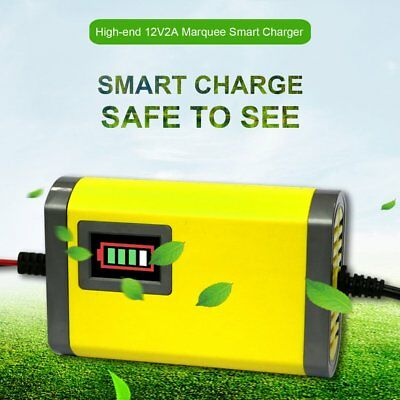 12V 2A Battery Trickle Smart Charger Maintain For Car Boat Motorcycle PU